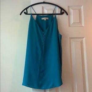 LOFT thin strap blue dress cami, size L